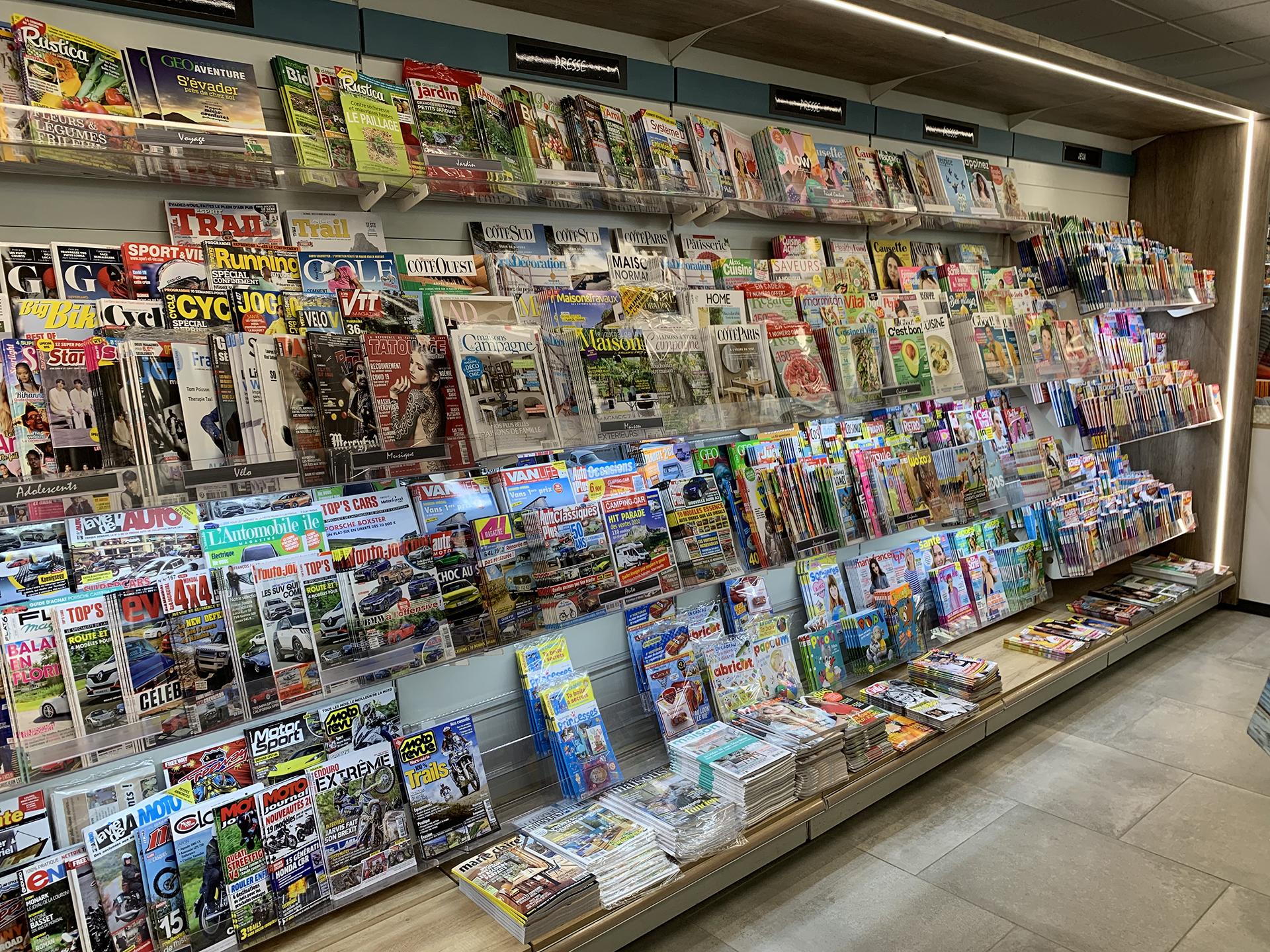 gradin-presse-magazines-tabac-le-crotoy / a2m diffusion