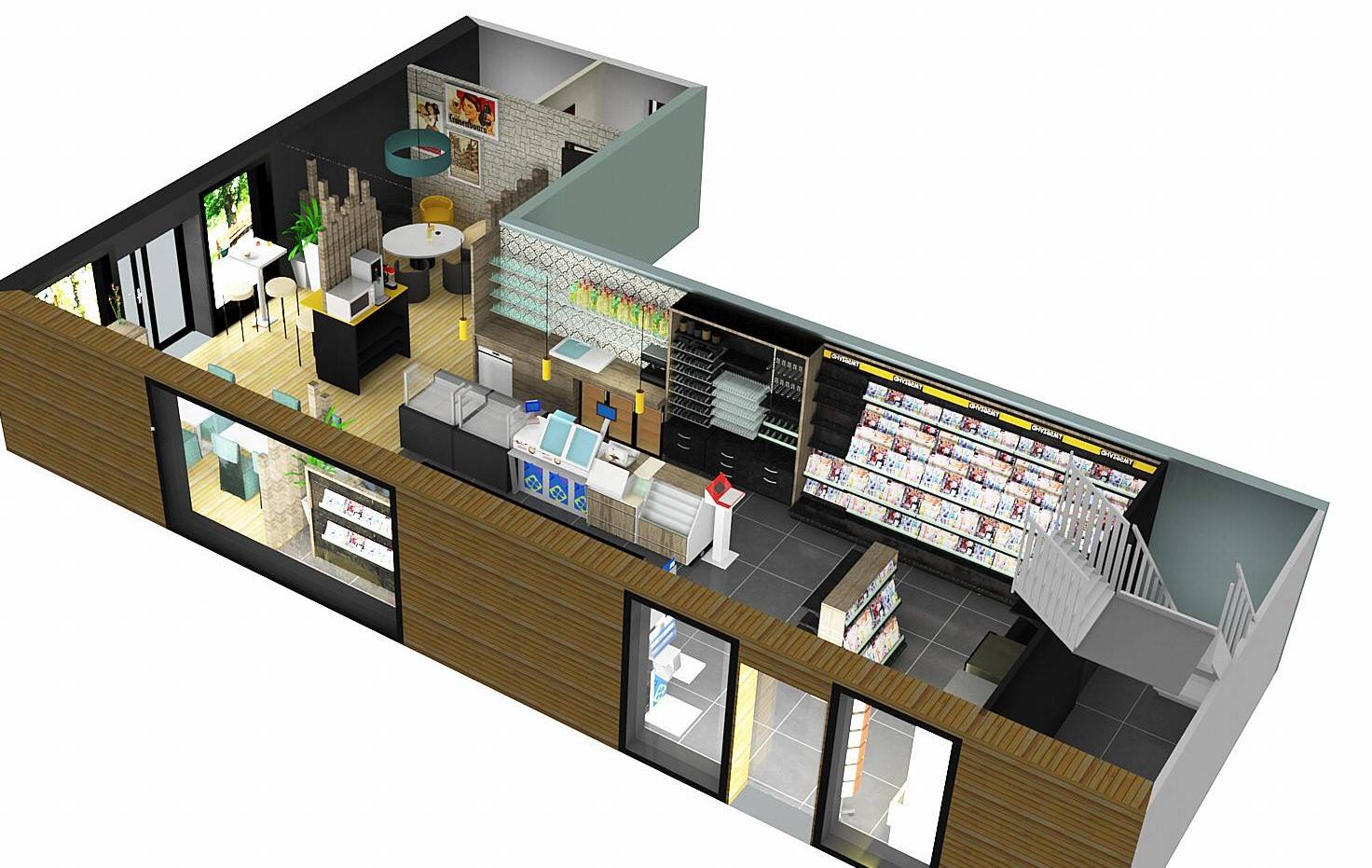 pers seebach 3D tabac restaurant presse/a2m diffusion